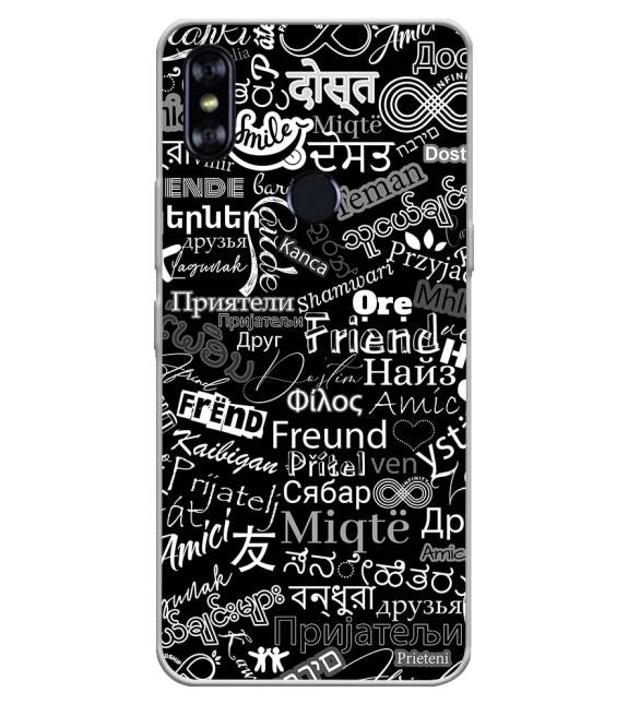 Friend in All Languages Back Cover for Itel A62
