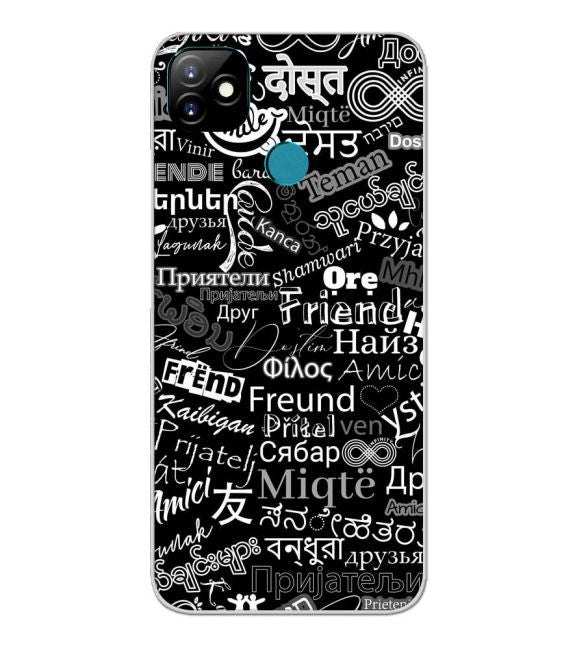 Friend in All Languages Back Cover for Itel Vision 1