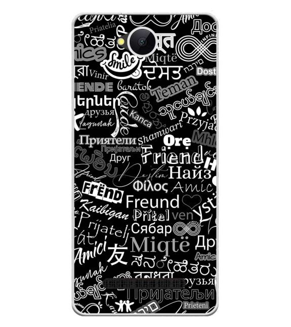 Friend in All Languages Back Cover for Karbonn A45 Indian