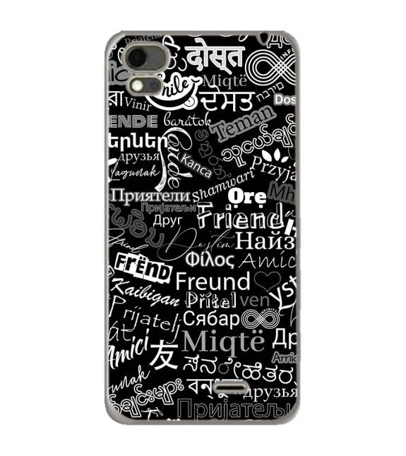 Friend in All Languages Back Cover for Karbonn Aura Note 4G