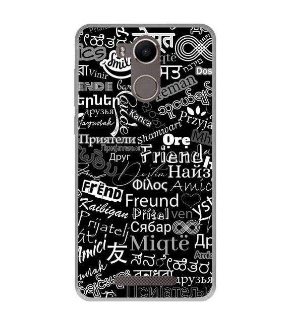 Friend in All Languages Back Cover for Karbonn K9 Kavach 4G