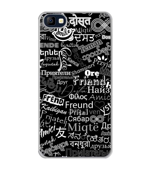Friend in All Languages Back Cover for Karbonn K9 Smart Selfie