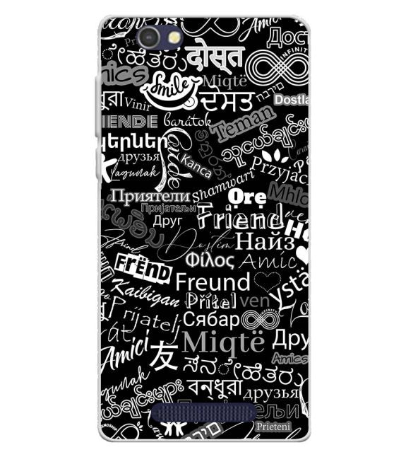 Friend in All Languages Back Cover for Lava A72