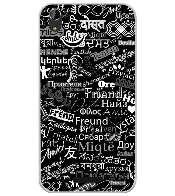 Friend in All Languages Back Cover for Lava Iris Atom X1