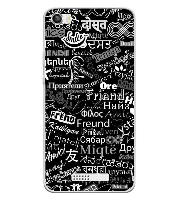 Friend in All Languages Back Cover for Lava Iris X8