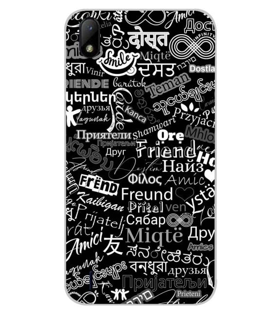 Friend in All Languages Back Cover for Lava Z41