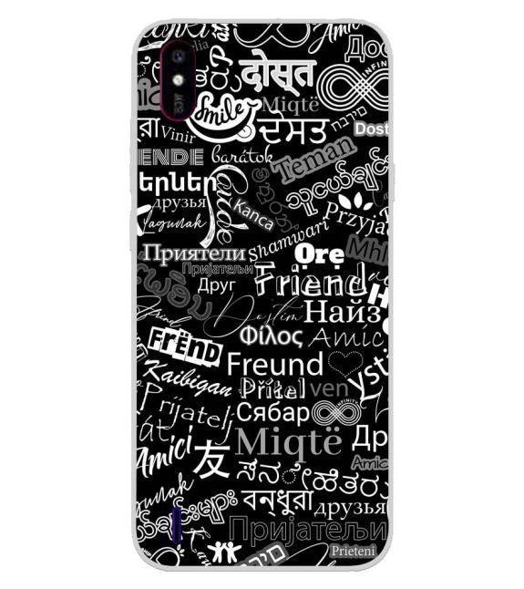 Friend in All Languages Back Cover for Lava Z53