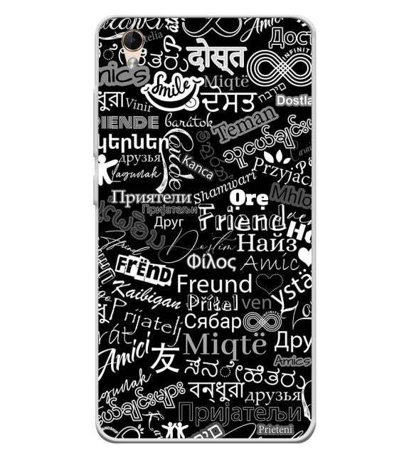 Friend in All Languages Back Cover for Lava Z60