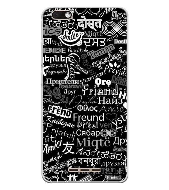 Friend in All Languages Back Cover for Lava Z60s