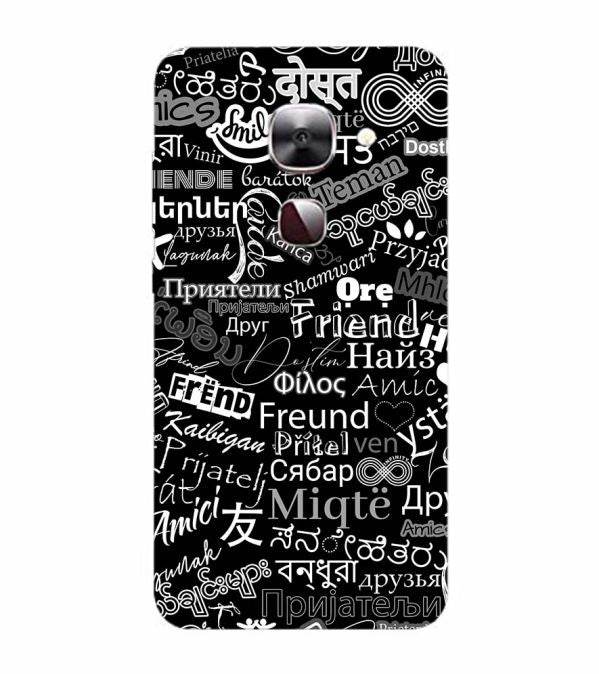 Friend in All Languages Back Cover for LeEco Le 2s