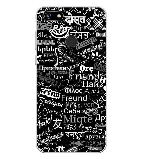 Friend in All Languages Back Cover for Lenovo A5