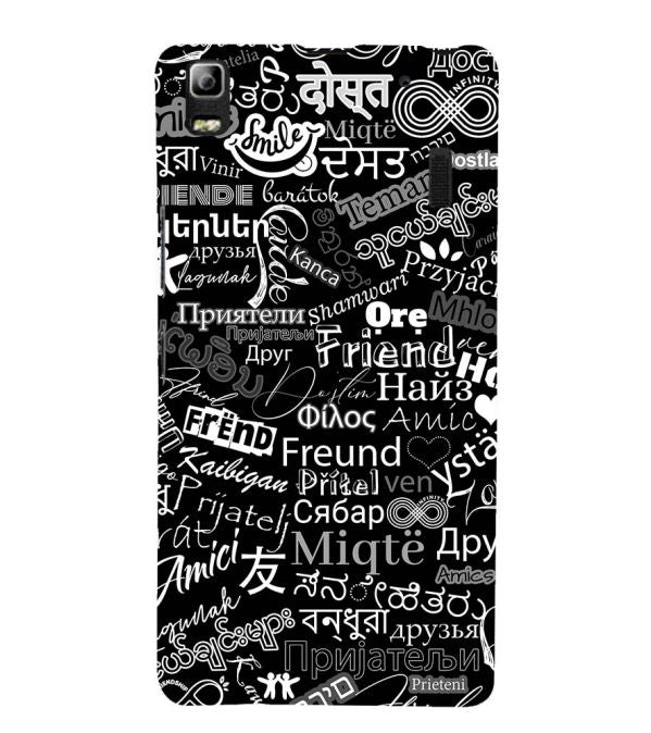 Friend in All Languages Back Cover for Lenovo A7000 and K3 Note
