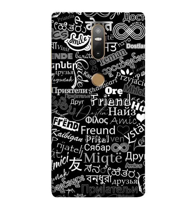 Friend in All Languages Back Cover for Lenovo Phab 2 Plus