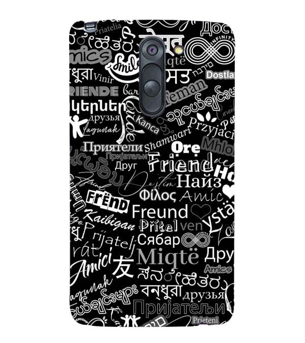 Friend in All Languages Back Cover for LG G3 Stylus