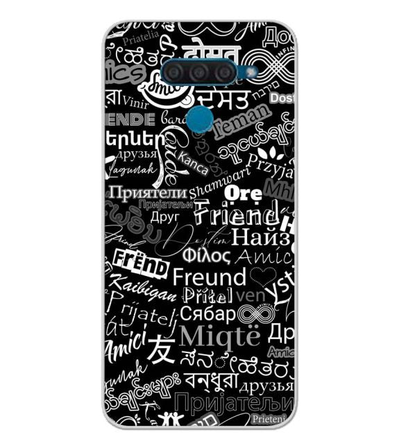 Friend in All Languages Back Cover for LG Q60
