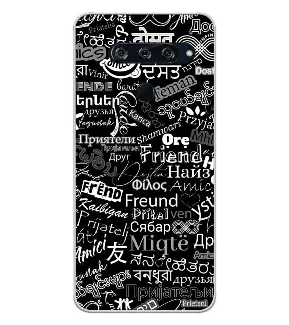 Friend in All Languages Back Cover for LG V40 ThinQ