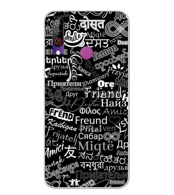 Friend in All Languages Back Cover for LG W30
