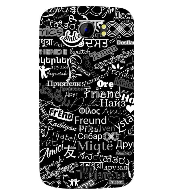 Friend in All Languages Back Cover for Micromax A110 Canvas 2