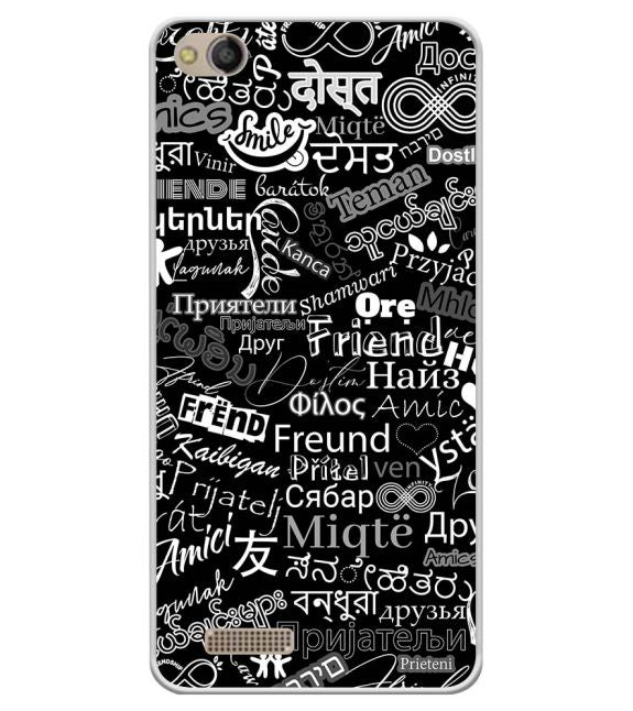Friend in All Languages Back Cover for Mobistar CQ Dual