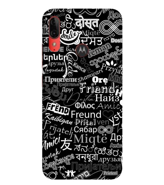 Friend in All Languages Back Cover for Motorola Moto E6s