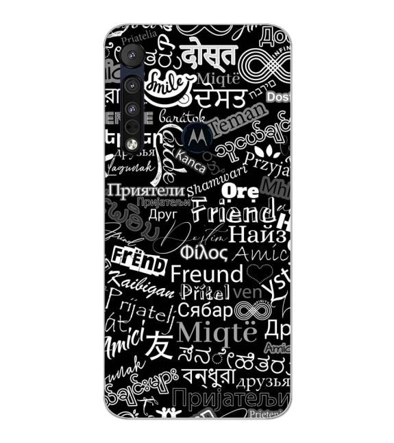 Friend in All Languages Back Cover for Motorola Moto G8 Plus