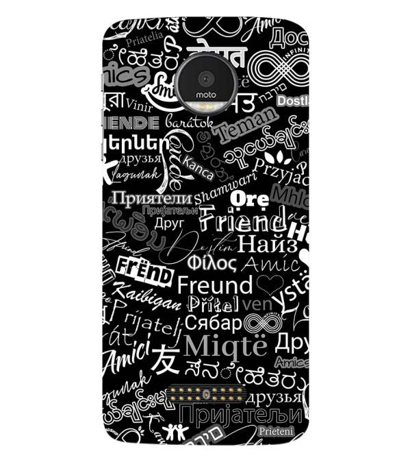 Friend in All Languages Back Cover for Motorola Moto Z