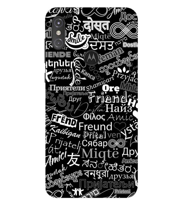 Friend in All Languages Back Cover for Motorola One Power (P30 Note)