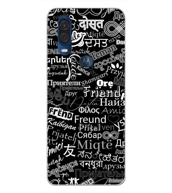 Friend in All Languages Back Cover for Motorola One Vision