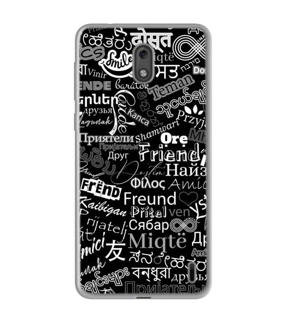 Friend in All Languages Back Cover for Nokia 2