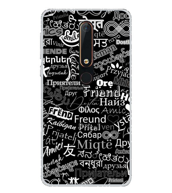 Friend in All Languages Back Cover for Nokia 6.1 (2018)