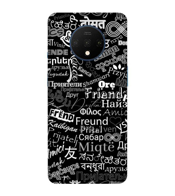 Friend in All Languages Back Cover for OnePlus 7T