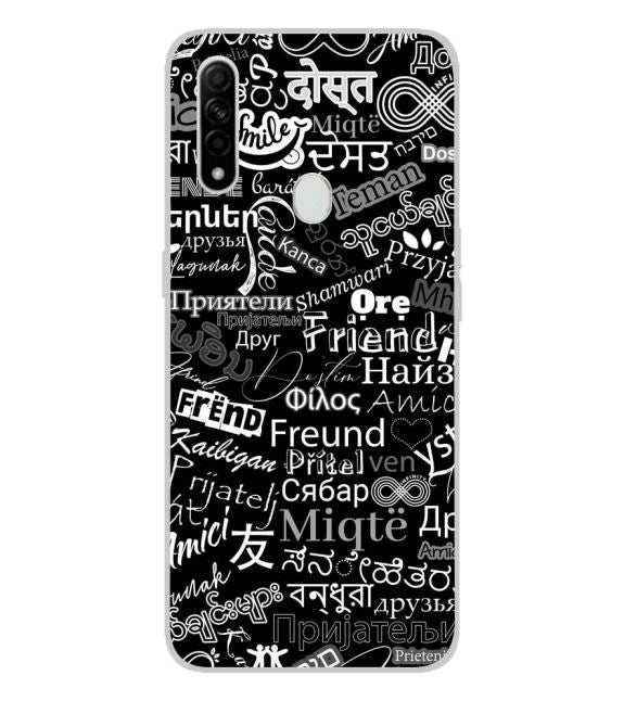 Friend in All Languages Back Cover for Oppo A31
