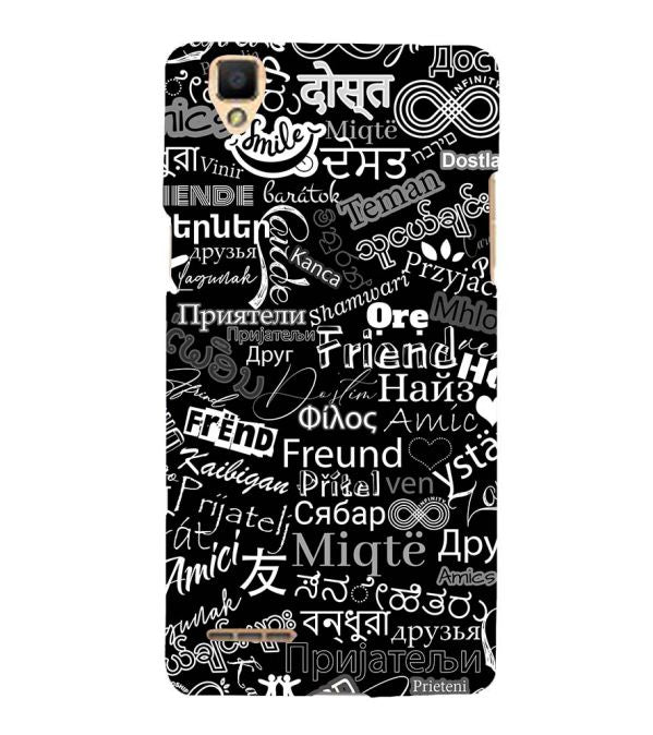 Friend in All Languages Back Cover for Oppo F1