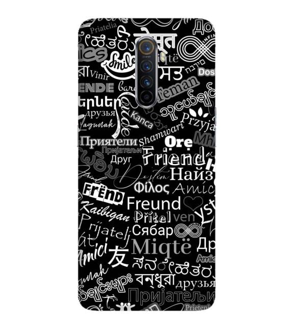 Friend in All Languages Back Cover for Oppo Reno Ace