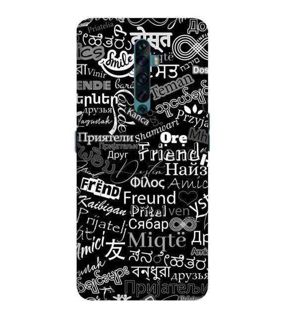 Friend in All Languages Back Cover for Oppo Reno2 F