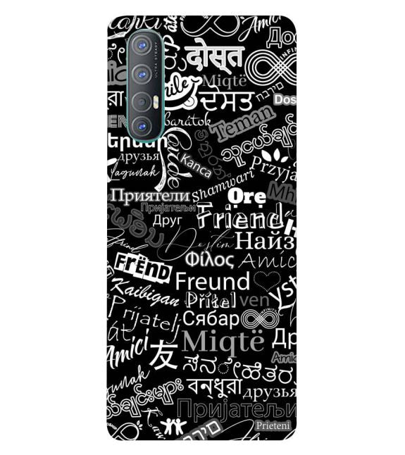 Friend in All Languages Back Cover for Oppo Reno3 Pro