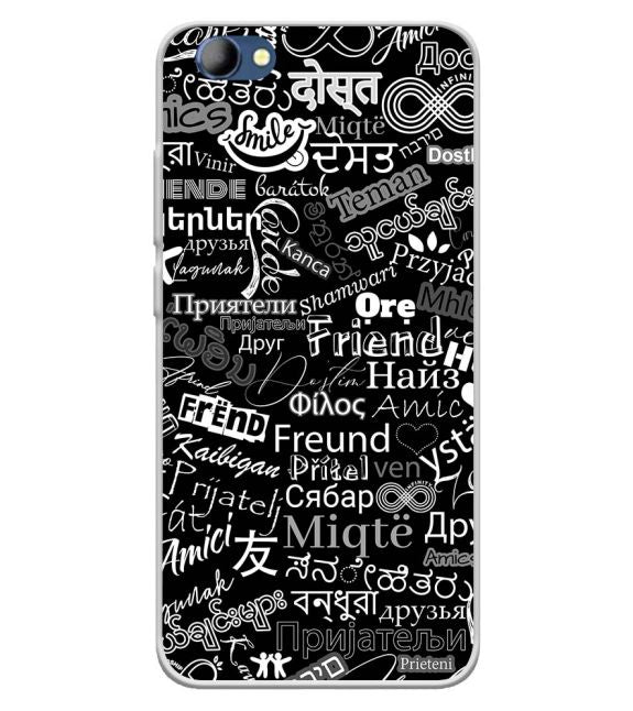 Friend in All Languages Back Cover for Panasonic Eluga I4