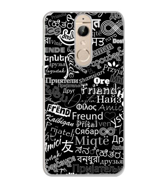 Friend in All Languages Back Cover for Panasonic Elugaa I9
