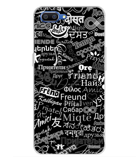 Friend in All Languages Back Cover for Realme C1 (2019)