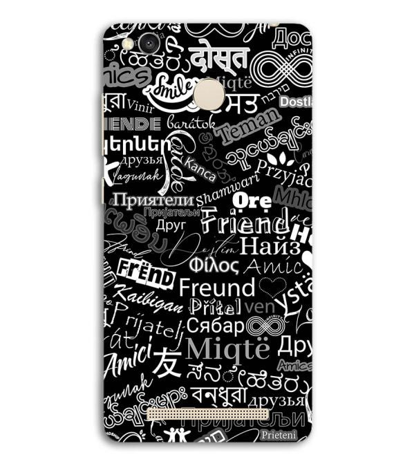 Friend in All Languages Back Cover for Redmi 3S Prime (With Sensor)