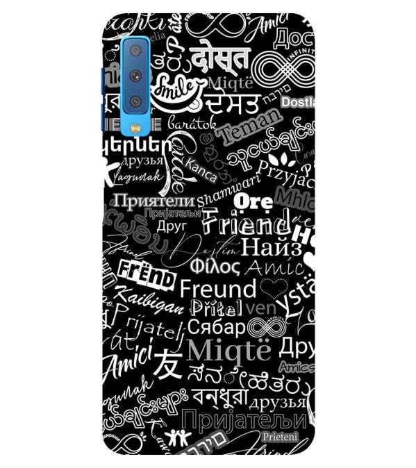 Friend in All Languages Back Cover for Samsung Galaxy A7 (2018)