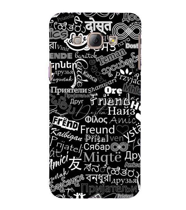 Friend in All Languages Back Cover for Samsung Galaxy A8 (2015)