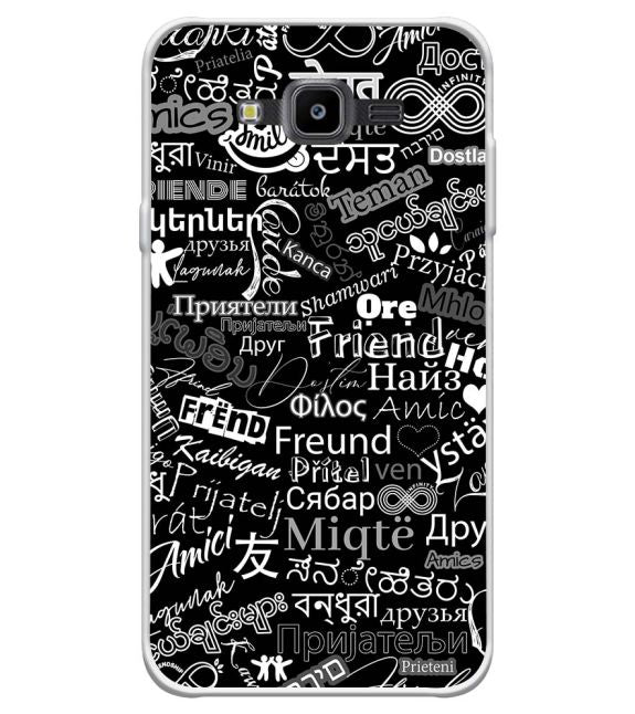 Friend in All Languages Back Cover for Samsung Galaxy J7 Nxt