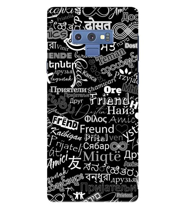 Friend in All Languages Back Cover for Samsung Galaxy Note 9