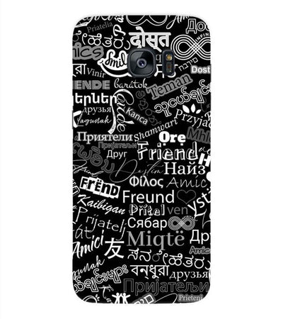 Friend in All Languages Back Cover for Samsung Galaxy S7 Edge