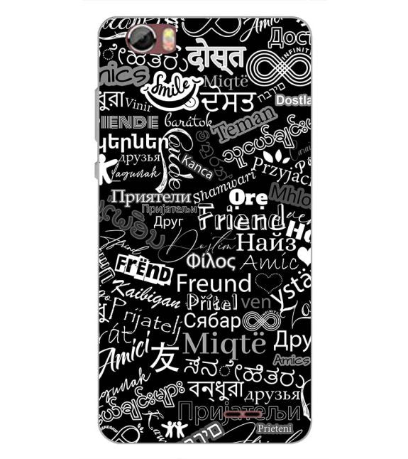 Friend in All Languages Back Cover for Sansui Horizon 2