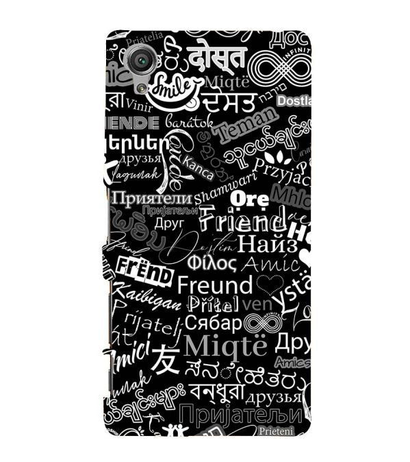 Friend in All Languages Back Cover for Sony Xperia X