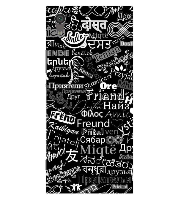 Friend in All Languages Back Cover for Sony Xperia XA1 Plus