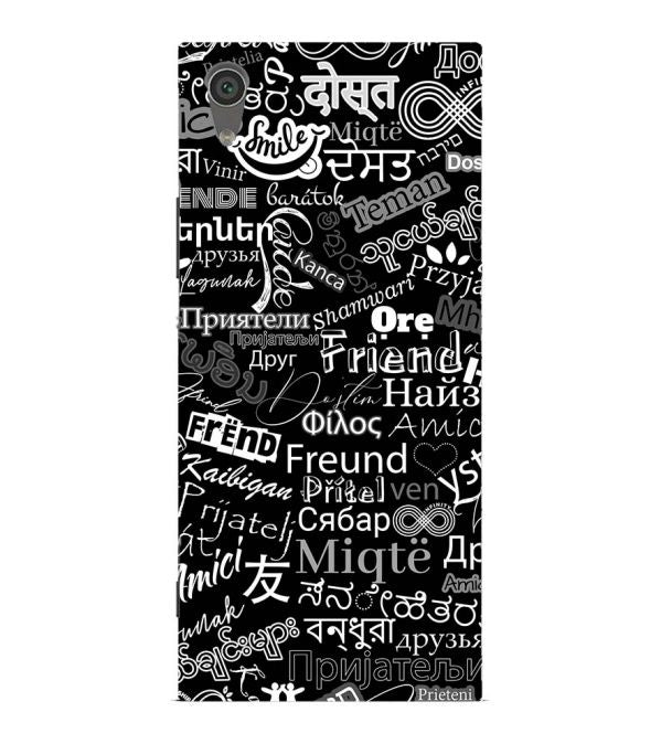 Friend in All Languages Back Cover for Sony Xperia XA1 Ultra