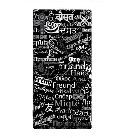 Friend in All Languages Back Cover for Sony Xperia XR
